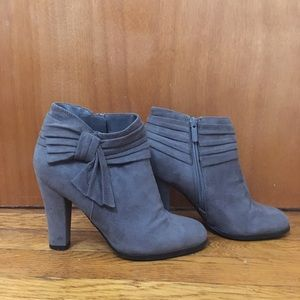 Impo Grey Heeled Ankle Booties